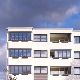 Intelligens homlokzat kialakítás beépített erkélyekkel